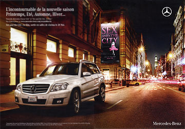 la campagne publicitaire Mercedes-Benz et Sex and the City.