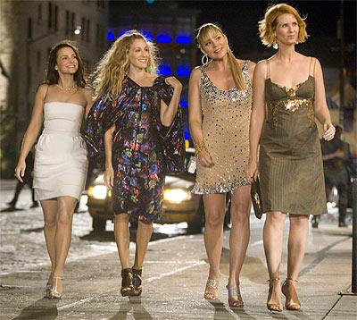 les quatre héroïnes de Sex and the City, accessoirisées par Swarovski.