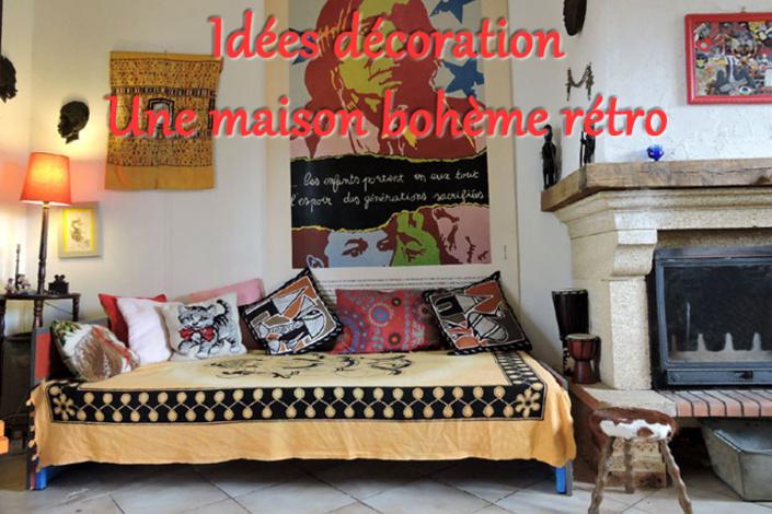 Idées décoration : une maison et un jardin de style bohème rétro (D.R.)