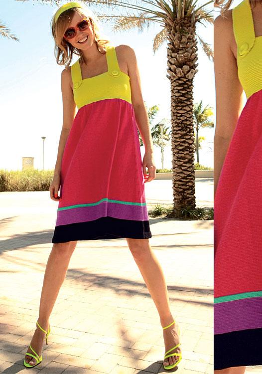 Modèle gratuit : robe à bretelles à tricoter