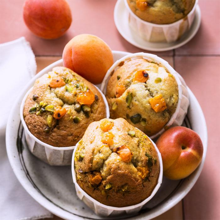 Petits gâteaux moelleux à l'abricot huile d'olive et pistaches - Photo : ©UE/SIPMM abricot/Amélie Roche.