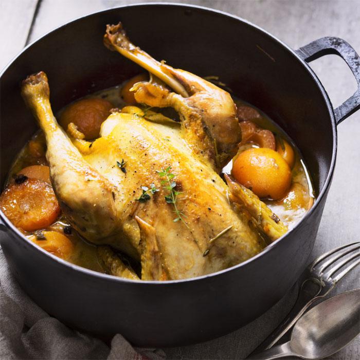 Poulet cocotte aux abricots et au cidre brut - Photo : ©UE/SIPMM abricot/Amélie Roche.