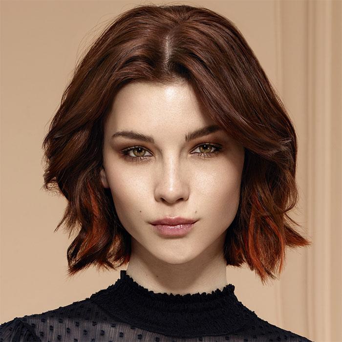 Coiffure cheveux mi,longs , INTERMEDE , tendances automne,hiver 2016,2017.