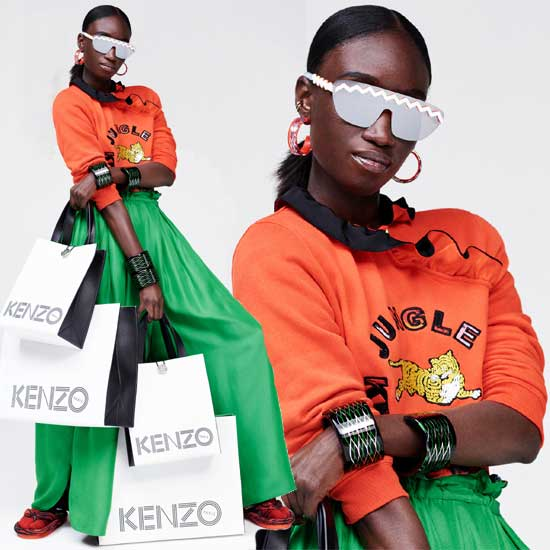 Look de la collection KENZO & H&M.