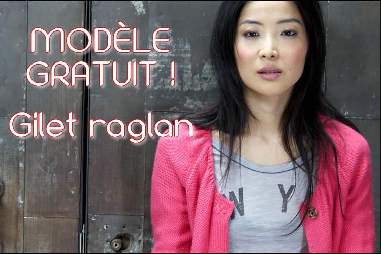 GRATUIT! Gilet raglan au point jersey envers à tricoter - explications gratuites.