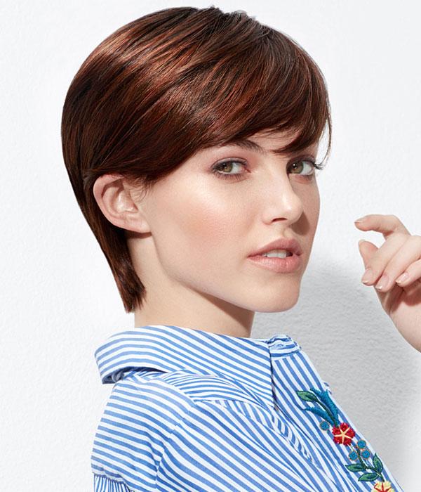 Cheveux raides et courts - Coiffure INTERMEDE - Printemps-été 2017.
