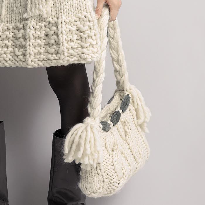 Modèle expliqué : sac en tricot - Création Gedifra.