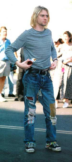 Look grunge K. Cobain