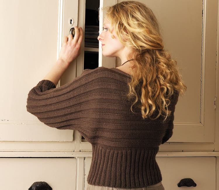 Dos pull manches chauve-souris à tricoter © Rowan