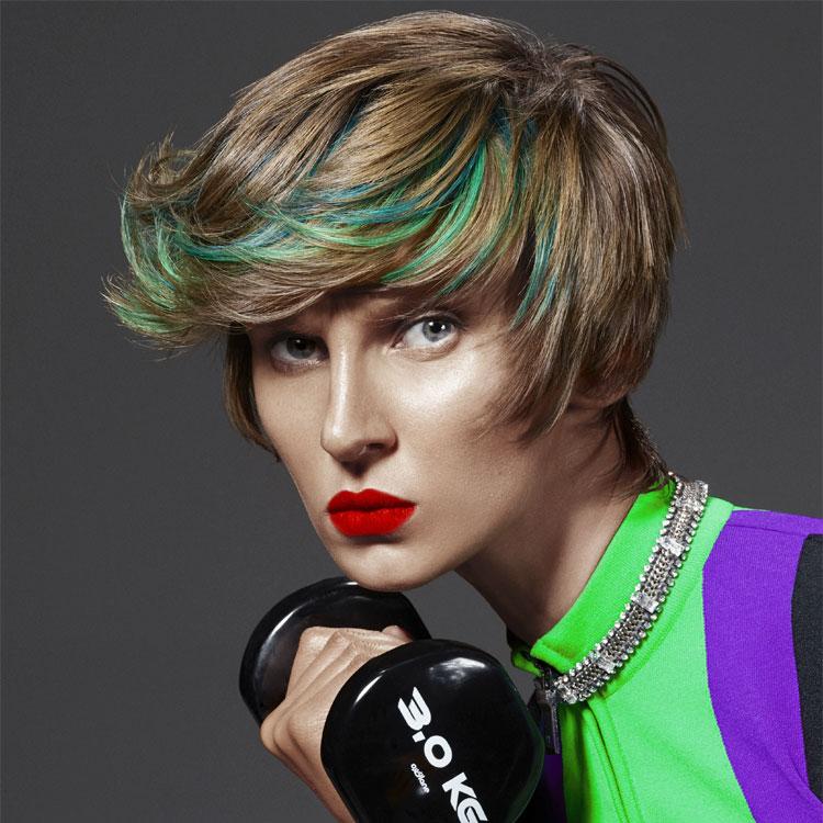 Coupe coiffure cheveux courts FRAMESI - Tendances printemps-été 2017.