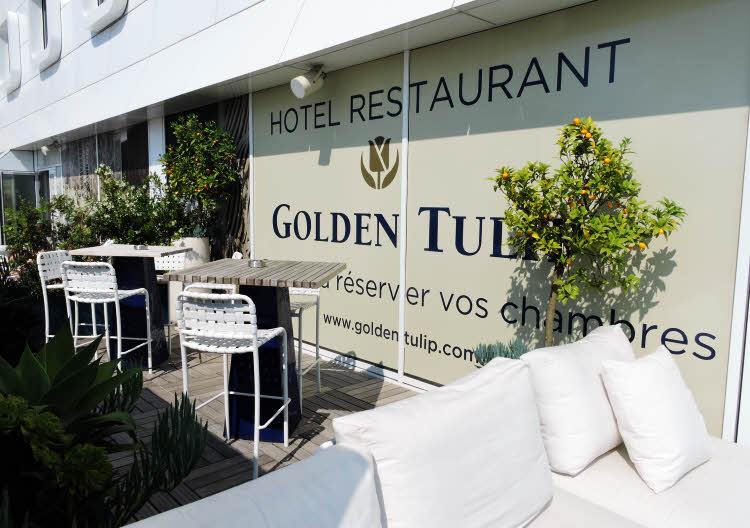 La terrasse du Golden Tulip Marseille Euromed © ABCfeminin.com.