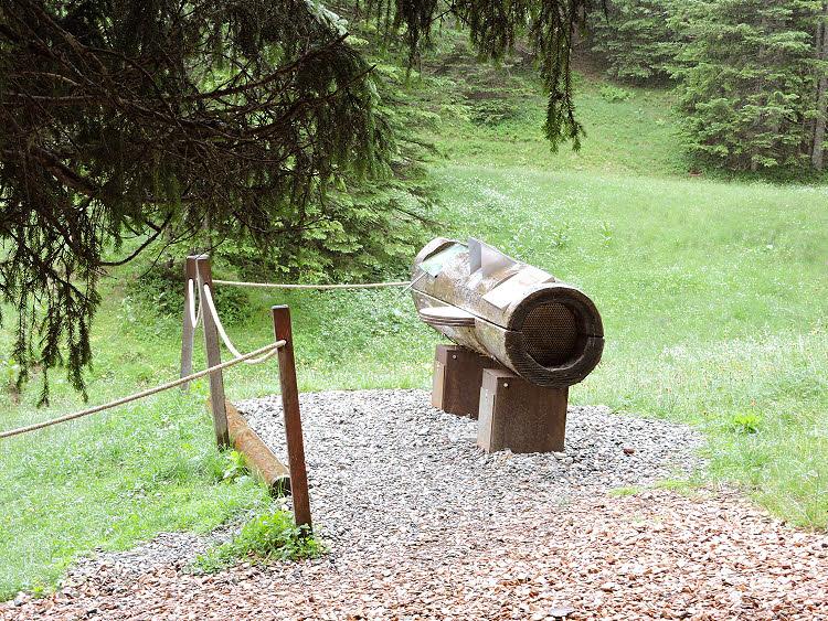 Une des bornes pédagogiques du Parc Biosphère Großes Walsertal © ABCfeminin.com.