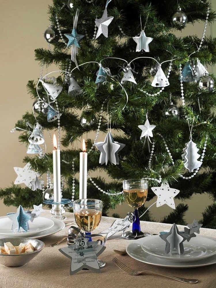 Zoom décor de Noël bleuté par Fiskars