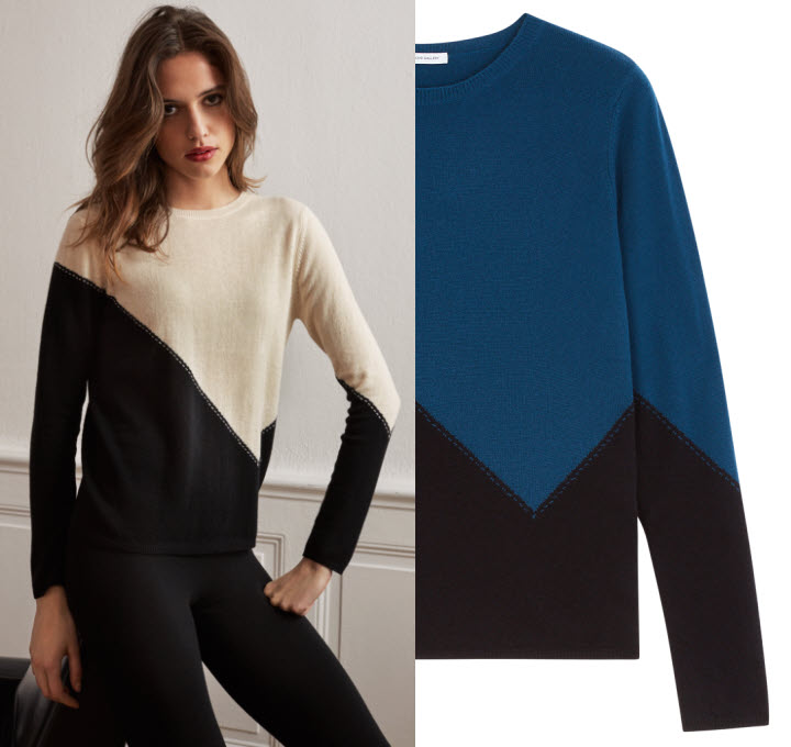 Tendance MAILLE : pull PONCHO GALLERY - Automne-Hiver 2017-2018.
