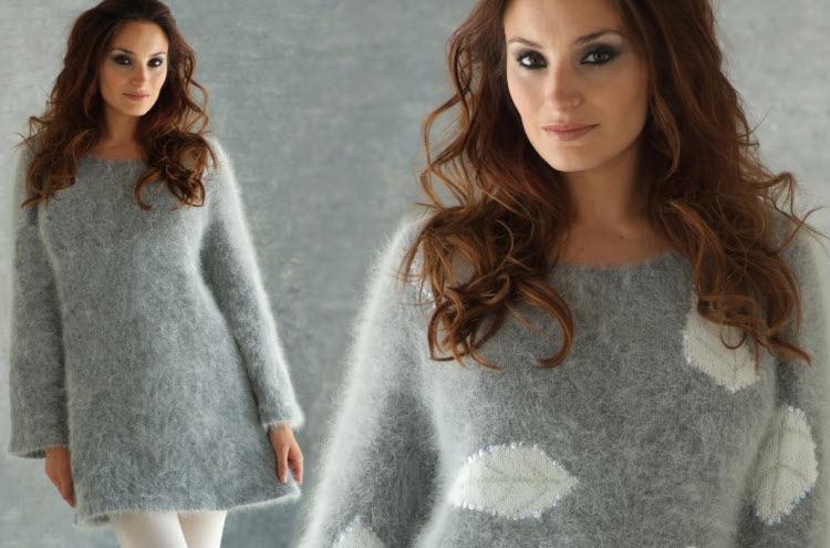 5b147b68b26ef ... Modèle expliqué gratuit   robe tunique unie ou à motifs au point jersey  à tricoter en.