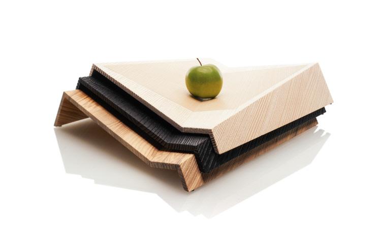Cadeau thème DESIGN - Plateaux en frêne Matthias Scherzinge.