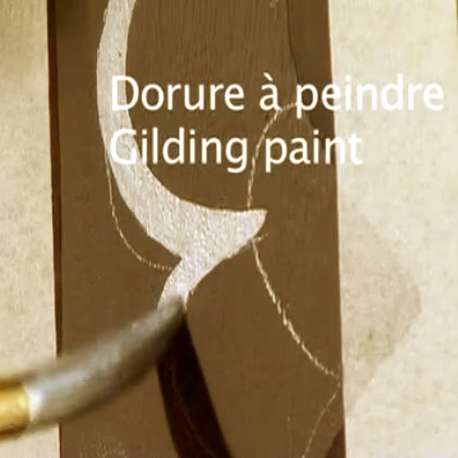 Technique de la dorure à peindre