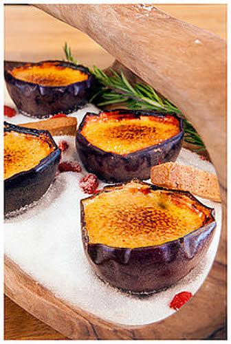 Recette du chef Julien Duboué : crème brûlée passion au chocolat