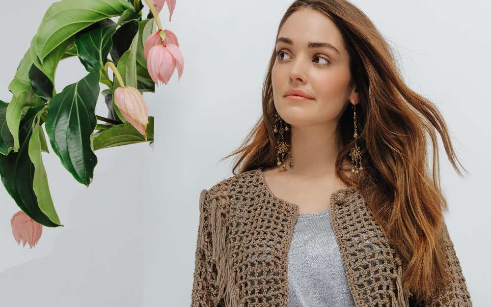 Modèle expliqué : veste ajourée au crochet © Phildar.