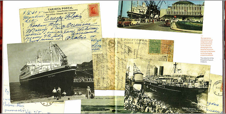 Une page du catalogue du Musée de L'Émigration de Gdynia.