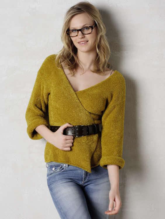 Modèle gratuit : gilet en jersey à tricoter. Création Phildar.