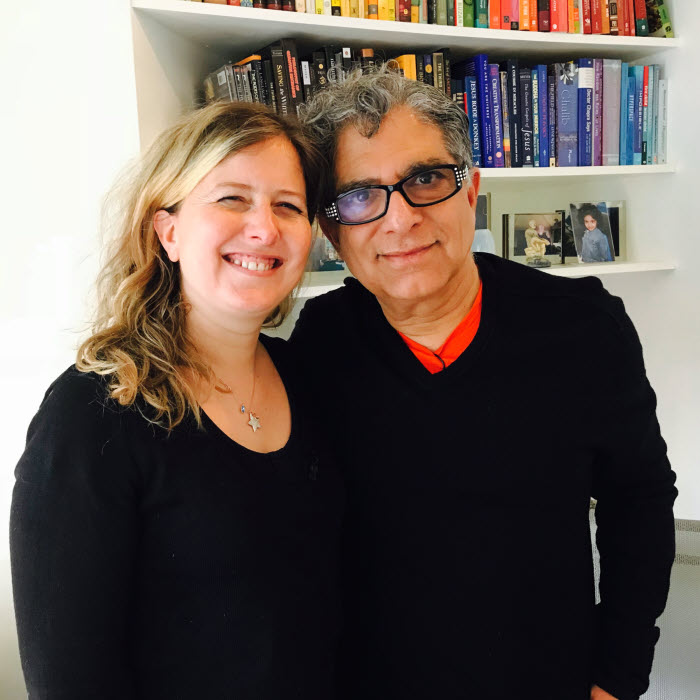 Christelle Crosnier  et le docteur Deepak Chopra.