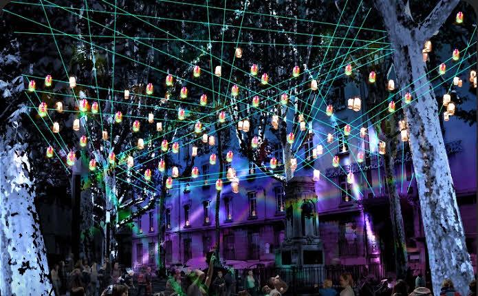Lumières en soi(e) - © Fête des Lumières : visuel 2018 © Ville de Lyon.