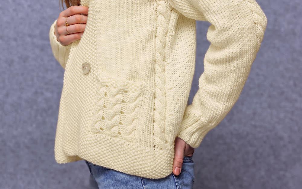 Modèle expliqué gratuit : veste-gilet à torsades © Phildar.