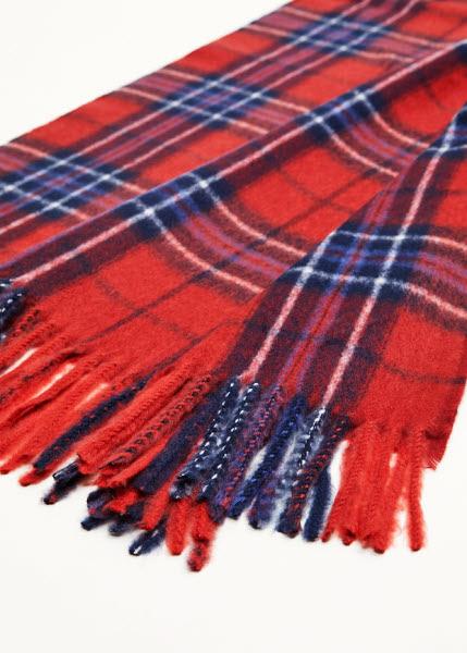 Écharpe motif écossais MANGO