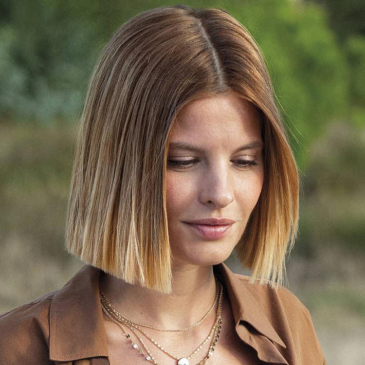 Coupe et coiffure cheveux mi-longs SAINT ALGUE - Printemps-été 2019.