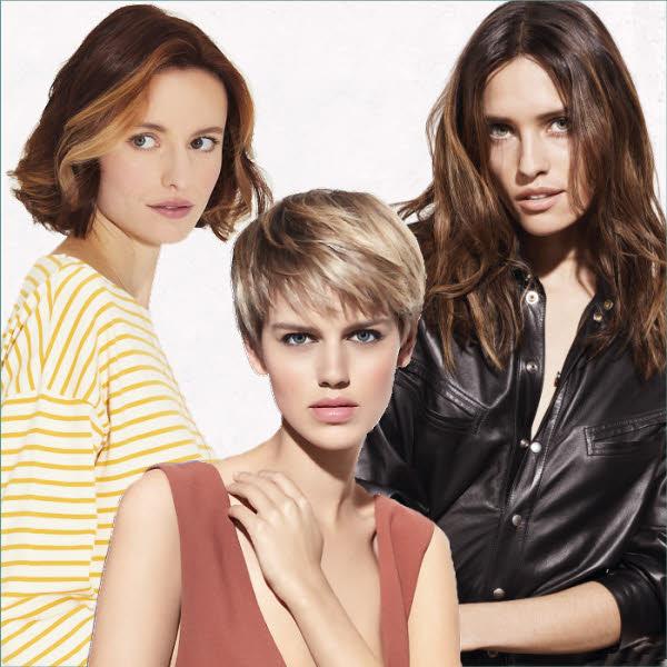 Choisissez entre 3 longueurs de cheveux - Coiffures INTERMEDE, COIFF & CO et Jean-Louis DAVID - Printemps-été 2019.