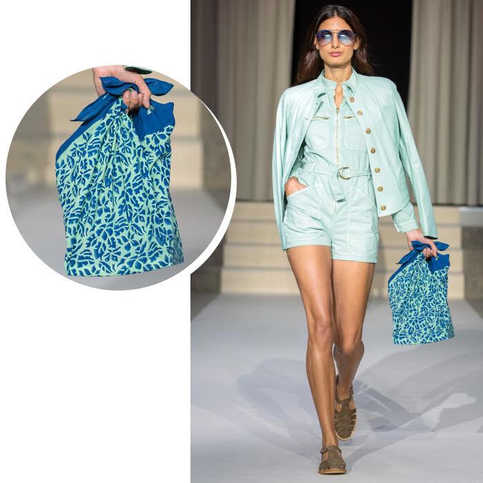 Sac foulard Agnès B. - Collection printemps-été 2019.