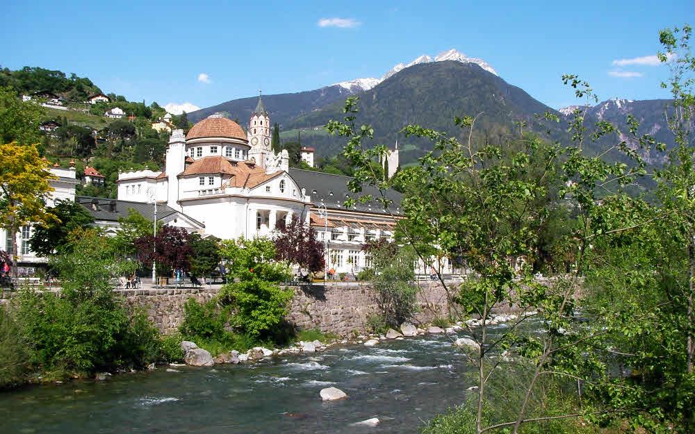 Merano et le torrent du Passirio qui traverse la ville © ABCfeminin.com.