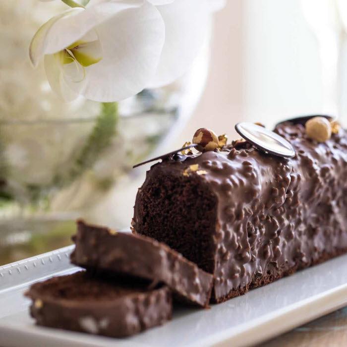 Cake au chocolat du Chef Pâtissier Florent Margaillan.