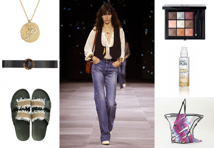 Sélection shopping autour d'un jean taille haute CELINE - Collection printemps-été 2020.