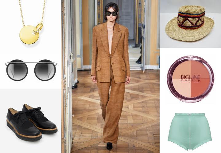 Sélection shopping autour d'un costume Olivier THEYSKENS - Collection printemps-été 2020.