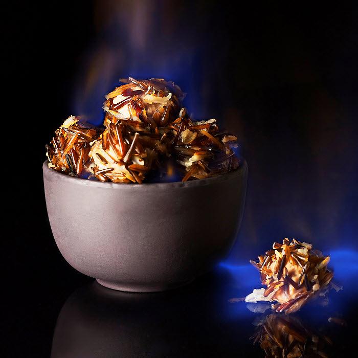 recette châtaignes flambées en bogues de riz cuites vapeur - Photo Philippe Barret