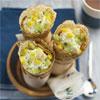 Crêpes aux fruits exotiques et à la crème vanille