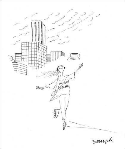 Carte postale humoristique © J.J. SEMPÉ.