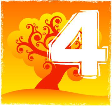Chiffre numérologique 4