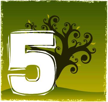 Chiffre numérologique 5