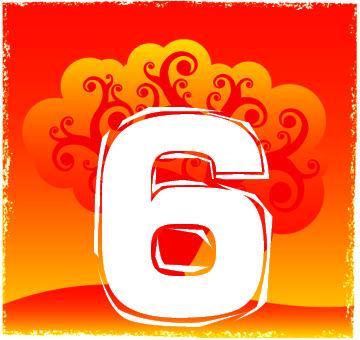 Chiffre numérologique 6
