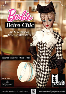 Affiche exposition Barbie Rétro Chic