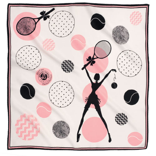 Foulard de la collection capsule 2014 Roland Garros par Chantal Thomass