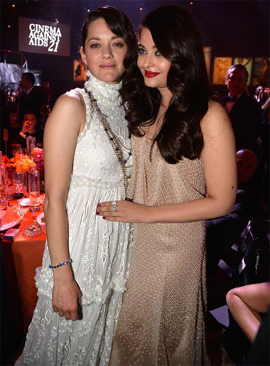 Marion COTILLARD et Aishwarya RAI au Festival de Cannes 2014