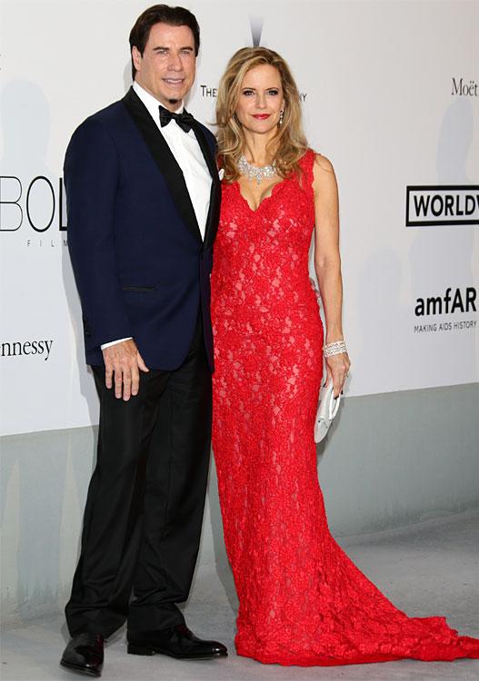 John TRAVOLTA et son épouse au Festival de Cannes 2014