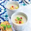 Cappuccino de crabe, ananas et menthe