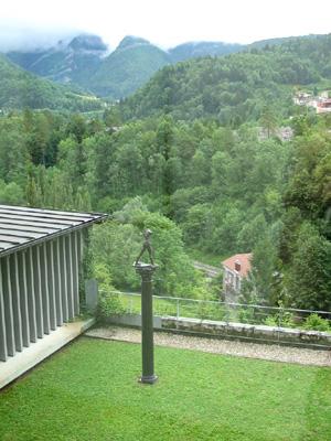 Le jardin en terrasse du  Musée de l'Abbaye à Saint-Claude (D.R.)