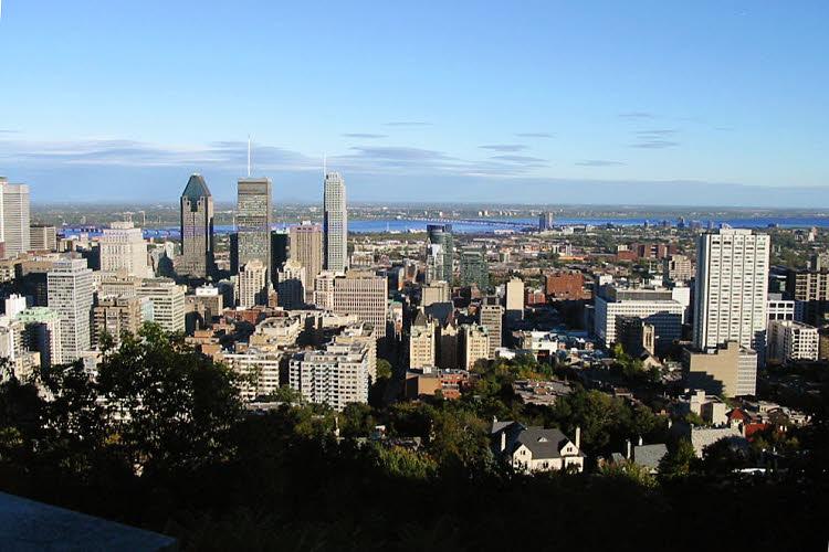 Montréal vue du point de vue du Mont Royal (D.R.)