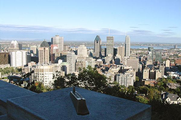 Panorama de Montréal du haut du Mont Royal (D.R.)
